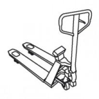 Palečių vežimėlis su svėrimo įranga
