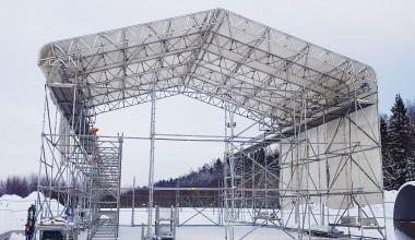 Laikinas stogas. Kauno kogeneracinė jėgainė