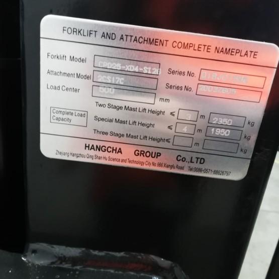 Elektrinis krautuvas Hangcha CPD25 Q1BJ01596