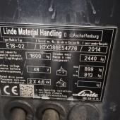 Elektrinis krautuvas Linde E16C EVO H2X386E54776