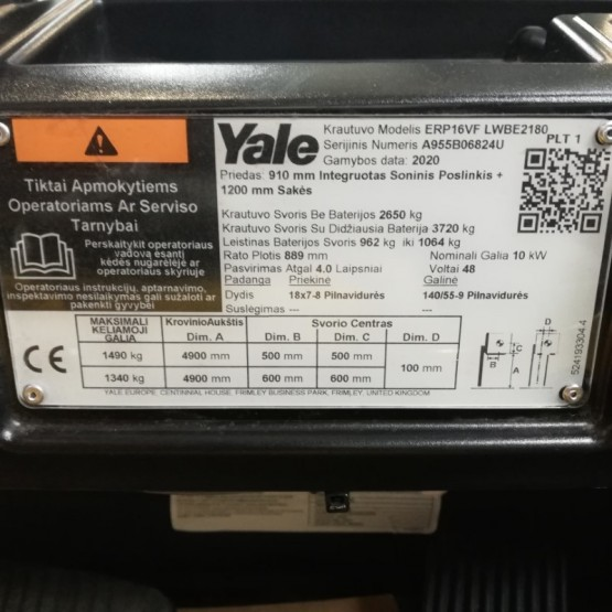 Elektrinis krautuvas YALE ERP16VF A955B06824U