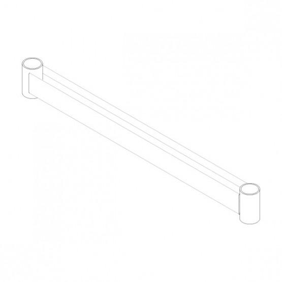 Начальный подкообразный ригель лестницы 0,73м