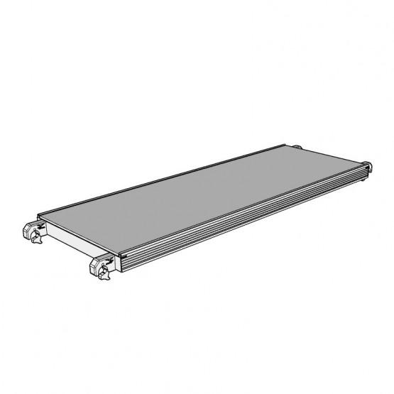 Алюминиевый настил с фанерой 2,85x0,61 м