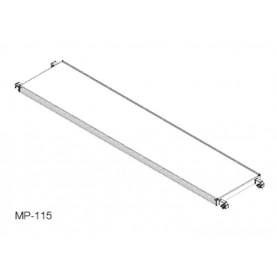 Aluminium platform with plywood 2,85x0,61 m