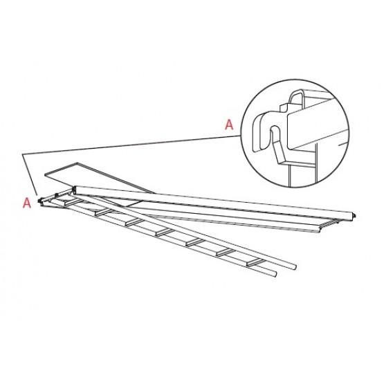 Aluminium-plywood pass-by platform 3,07 B61m