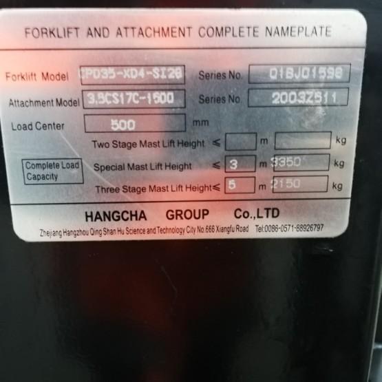 Elektrinis krautuvas Hangcha CPD35 Q1BJ01598