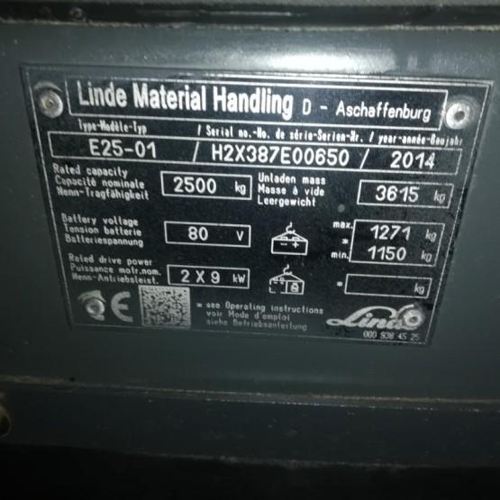 Elektrinis krautuvas Linde E25 H2X387E00650