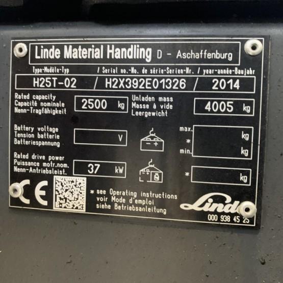 Dujinis krautuvas Linde H25T-02 H2X392E01326