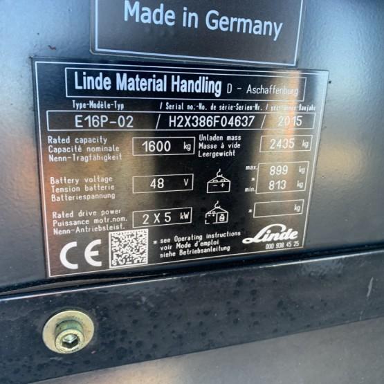 Elektrinis krautuvas Linde E16P-02 H2X386F04637