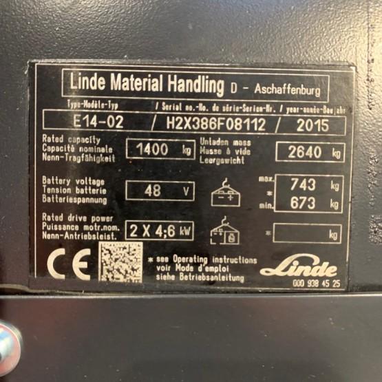 Elektrinis krautuvas Linde E14-02 H2X386F08112