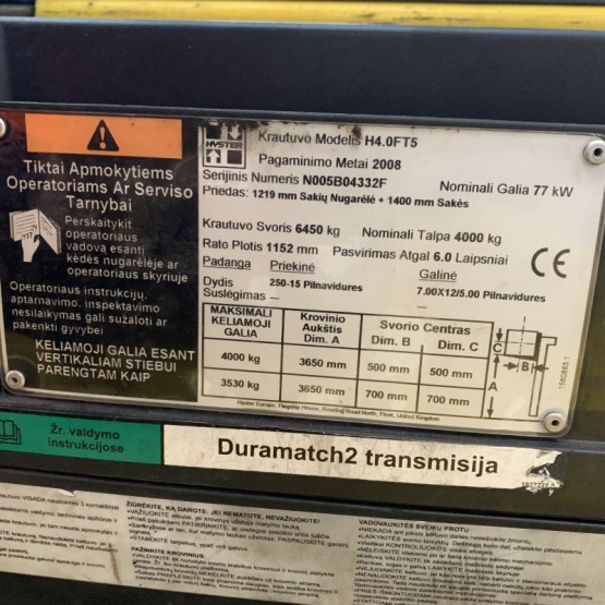 Dujinis krautuvas Hyster H4.OFT5 N005B04332F