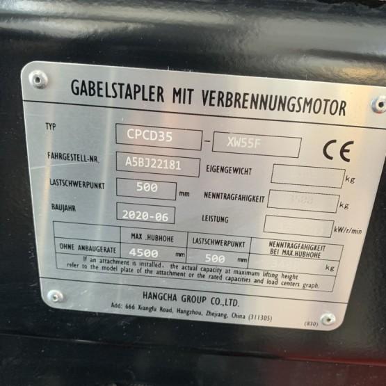 Dyzelinis šakinis krautuvas CPCD35-XW55F A5BJ22181