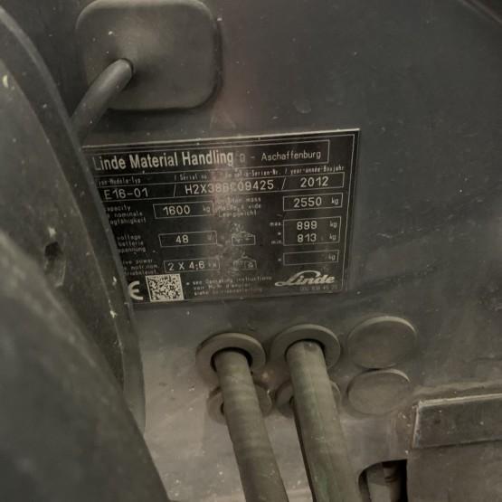 Elektrinis krautuvas Linde E16-01 H2X386C09425