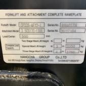 Elektrinis krautuvas Hangcha CPD35-AEY2-I R8BA03708