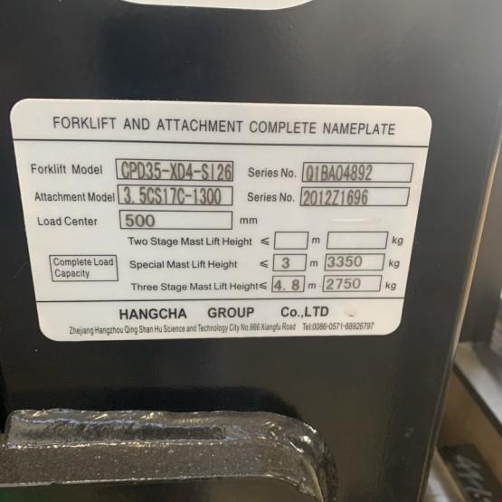 Elektrinis krautuvas Hangcha CPD35-XD4-S126 Q1BA04892