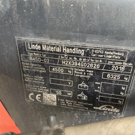 Dyzelinis krautuvas Linde H45D-02 H2X394G02626