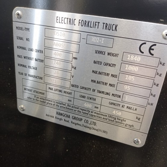 Elektrinis krautuvas Hangcha CPDS10-XD2-I S7BA00556