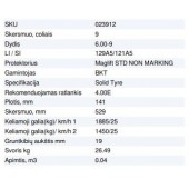 Masyvinė padanga 6.00-9 4.00E BKT MAGLIFT STD NON MARKING 129A5/121A5