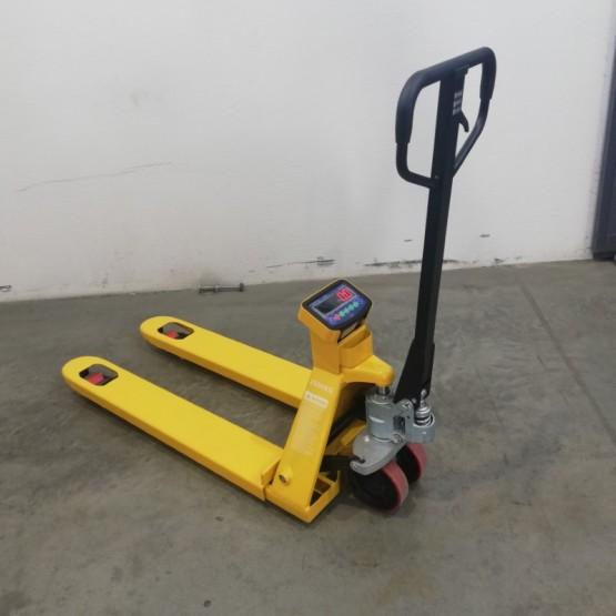 Rankinis hidraulinis palečių vežimėlis su svarstyklėmis WH-25ES