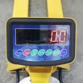 Rankinis hidraulinis palečių vežimėlis su svarstyklėmis ir spausdintuvu WH-25ES