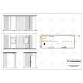 Konteinerinė patalpa su san. mazgu 20p (6m)