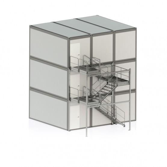 Laiptinė konteinerinėms patalpoms 3 ir daugiau aukštų