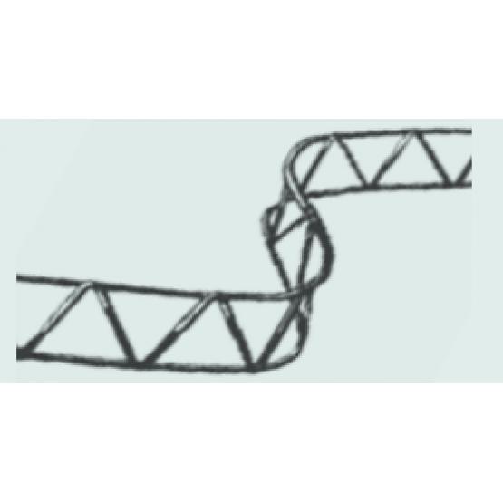 Tarparmatūrinis fiksatorius 2m 100mm