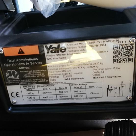 Elektrinis krautuvas YALE ERP16VT G807B12964T