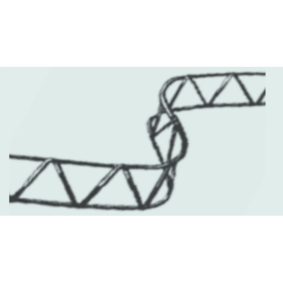 Rebar mesh spacer 2m 90mm