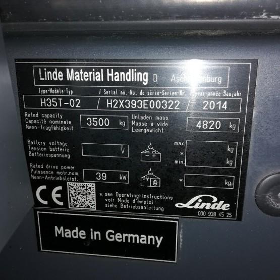 Dujinis krautuvas Linde H35T EVO H2X393E00322