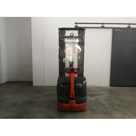 Elektrinis aukštai keliantis palečių vežimėlis Linde L14i W4X372D01614