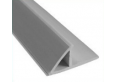 Plastic chamfer with flange 2,5m 20mm