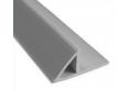 Пластиковый уголок треугольник с фланцем 2,5m 20мм