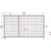 Statybinė tvora 2x3,5m F2