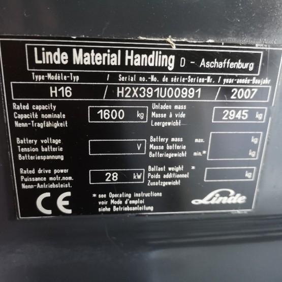 Dujinis krautuvas Linde H16T H2X391U00991