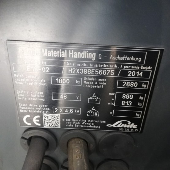 Elektrinis krautuvas Linde E18 H2X386E56675