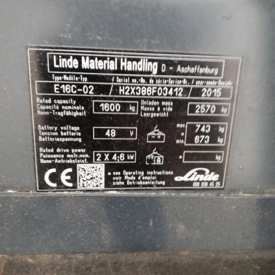 Elektrinis krautuvas Linde  E16 H2X386F03412