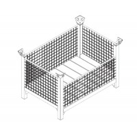 Pallet with welded basket