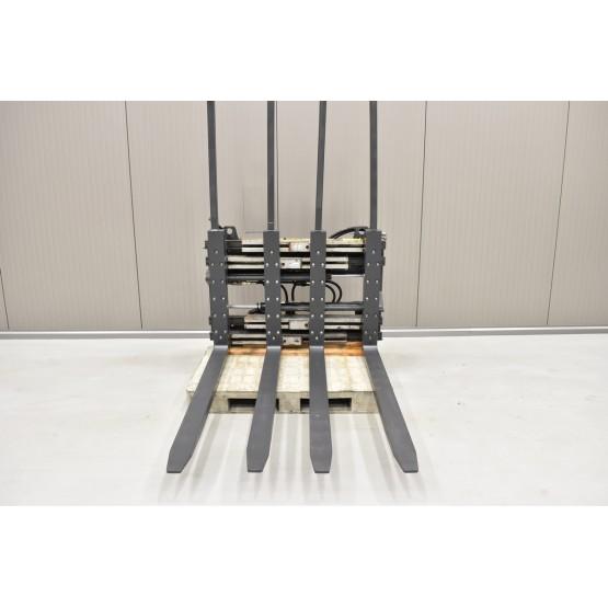 KAUP Dvigubas palečių griebtuvas su šakių pozicionieriumi