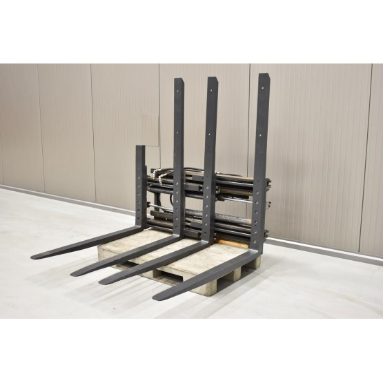 Double pallet handler with side-shift