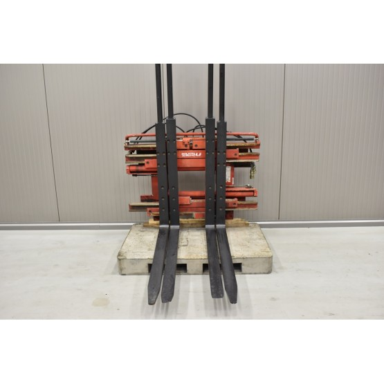 BOLZONI-AURAMO Dvigubas palečių griebtuvas su šakių pozicionieriumi